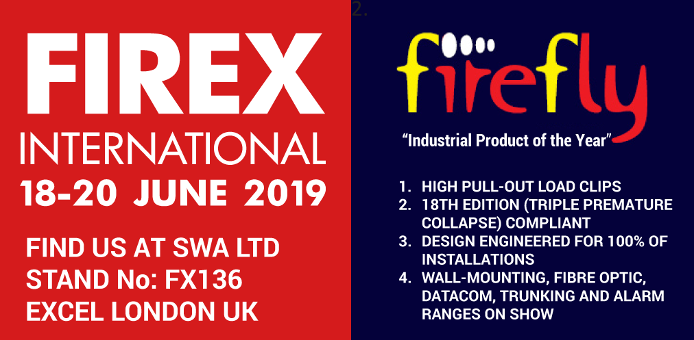 Firefly Cable Clips at FIREX INTERNATIONAL 2019